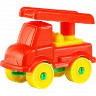 Конструктор «Юный путешественник» автомобиль пожарный, 8 элементов.