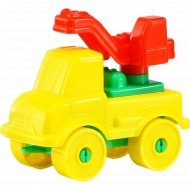 Конструктор «Юный путешественник» автомобиль-кран, 8 элементов.