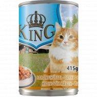 Консервированный корм для котов «King» с курицей, 415 г.