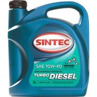 Масло моторное «Sintec» Turbo, SAE, 10W-40, API CF-4/SJ, 122445, 5 л