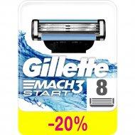 Кассеты для бритья «Gillette» Mach 3 Start, 8 шт