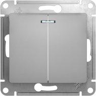 Выключатель «Schneider Electric» Glossa, GSL000353, серебристый