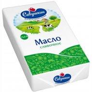 Масло сладкосливочное «Савушкин» несоленое, 72.5%, 160 г