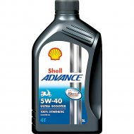 Масло моторное «Shell» Advance 4T Ultra Scooter, 5W-40, SN/MB, 1 л