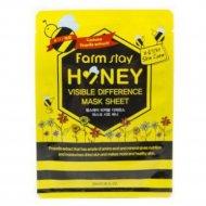 Тканевая маска для лица «FarmStay» с медом и прополисом, 23 мл.