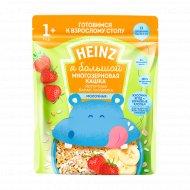 Каша многозерновая, йогуртная «Heinz» банан, клубника, 200 г.