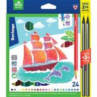Карандаши «Корабли» 24 цвета +2.
