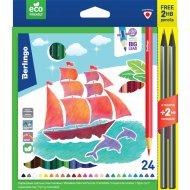Карандаши «Корабли» CP02924, 24 цвета +2
