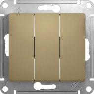 Выключатель «Schneider Electric» Glossa GSL000431, золотистый