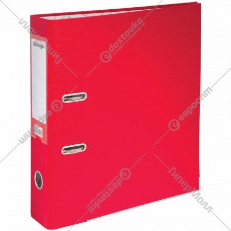 Папка-регистратор «Mega Top» с карманом, 70 мм, красная.