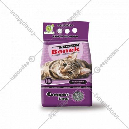 Наполнитель для туалета «Super benek» компакт лаванда, 10 л.
