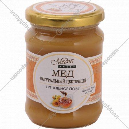 Мед натуральный «Медок» гречишное поле, 350 г.