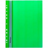 Папка-скоросшиватель «Berlingo» с перфорацией, зеленая.