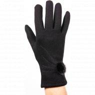 Перчатки женские «MBВ» трикотажные, черные.