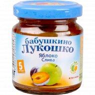 Пюре «Бабушкино Лукошко» яблоко+слива 100 г.