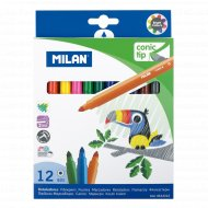 Набор фломастеров «Milan» 12 цветов.