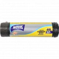 Пакеты для мусора «Novax» с затяжками, 60 л, 10 шт.