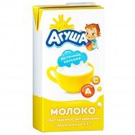 Молоко «Агуша» стерилизованное, 3.2%, 487 мл.