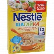 Каша «Nestle» с кусочками земляники, яблока и персика, 200 г.