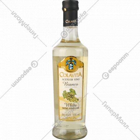 Уксус «Colavita» из белого вина, 500 мл.