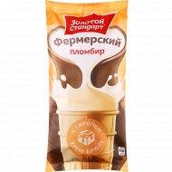 Мороженое пломбир «Фермерский» с крем-брюле, 13%, 90 г.