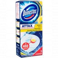 Стикер для очищения унитаза «Domestos Attax» лимонная свежесть,3x10 г.