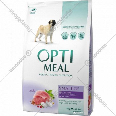 Сухой корм для собак малых пород «Optimeal» утка, 4 кг.