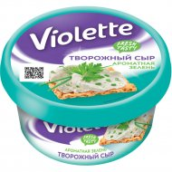 Сыр творожный «Violetta» с зеленью, 70%, 140 г