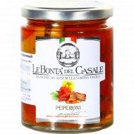 Перец гриль в масле «LeBonta'del Casale» маринованный, 280 г.