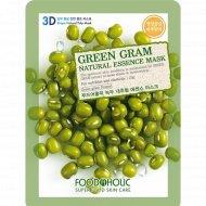 Тканевая маска «FoodaHolic» green gram, 23 г.