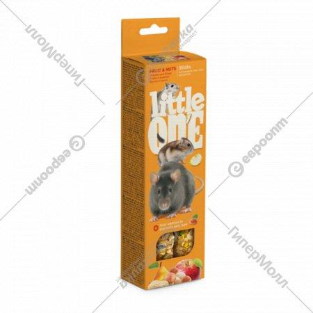 Палочки для грызунов «Little One» фрукты и орехи, 2х60 г.