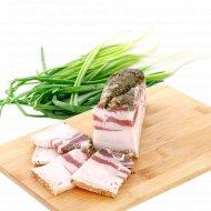 Продукт из шпика «Грудинка свиная соленая» охлаждённый, 1 кг., фасовка 0.4-0.5 кг