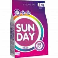 Порошок стиральный «Sunday» для цветного белья, 3 кг.