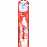 Зубная щетка «Colgate Optic white» электрическая, средняя жесткость.