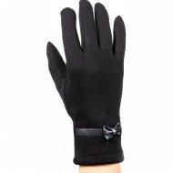 Перчатки трикотажные женские «МВВ» 404/2, черные.