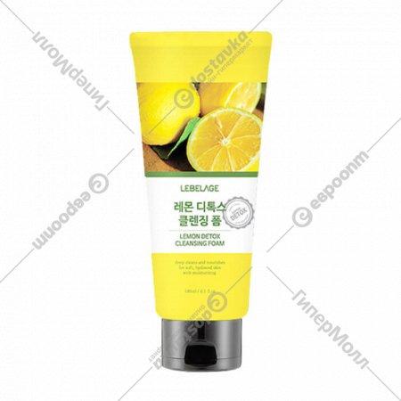 Детокс-пенка для умывания «Lebelage» с лимоном, 180 мл.