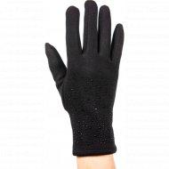 Перчатки трикотажные женские «МВВ» 404/3, черные.