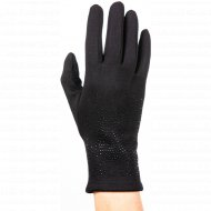 Перчатки трикотажные женские «МВВ» 404/4, черные.