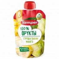 Пюре «Semper» груша, банан, манго, 110 г.