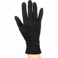 Перчатки трикотажные женские «МВВ» 404/7, черные.