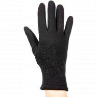 Перчатки женские трикотажные «MBB» 404/8, черные.