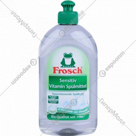 Средcтво для мытья посуды «Frosch» для чувствительной кожи, 0.5 л.