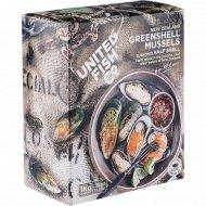 Мидии «Greenshell» в половинках раковин, мороженые, 1 кг