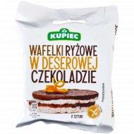 Рисовые вафли «Kupiec» c белгийским темным шоколадом, 30 г.