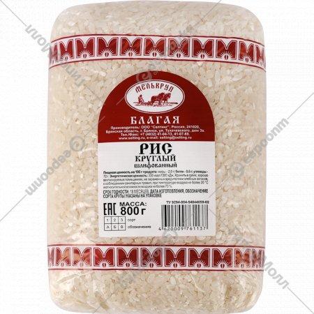 Рис круглый «Благая» шлифованный, 800 г.