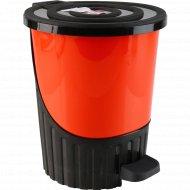 Ведро для мусора пластмассовое с педалью, 8 л.