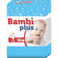 Подгузники детские «Bambi plus» 8-19 кг, размер 4, 56 шт.