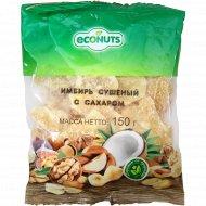 Имбирь сушеный «Econuts» с сахаром, 150 г.