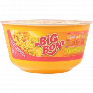 Лапша «Big Bon» курица + соус сальса 85 г.