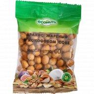 Арахис жареный «Econuts» в кокосовом соке, 60 г.